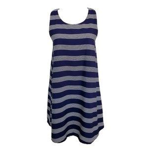 Everly M Shift Dress Navy Blue White Stripe NWOT